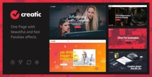 Creatic One Page Parallax WordPress Nulled v.1.0