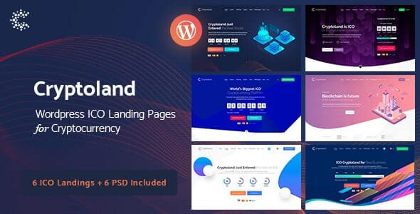 Cryptoland ICO Landing Pages WordPress Theme