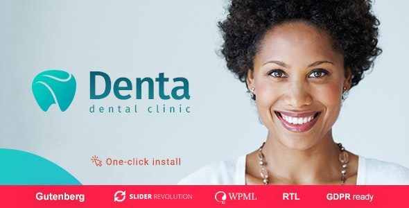 denta dental clinic wp theme