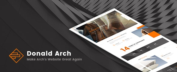 Donald Arch Creative Architecture WordPress Theme Nulled v.1.0.8