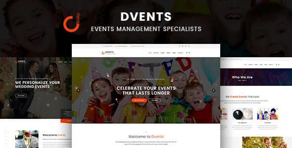 Dvents Events Management Companies and Agencies WordPress Theme