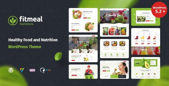 Fitmeal Organic Food Delivery and Healthy Nutrition WordPress Theme