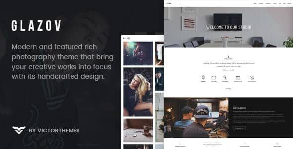 Glazov Photography WordPress Theme