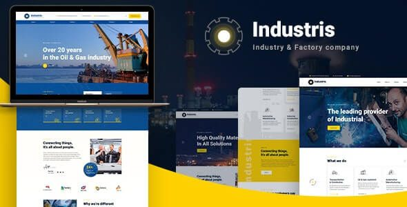 Industris Factory & Business WordPress Theme Nulled v.1.0.6