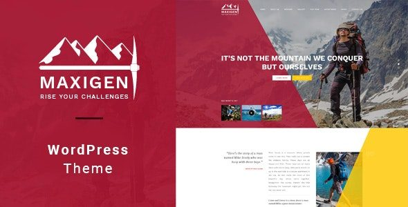 Maxigen Hiking & Outdoor WordPress Theme