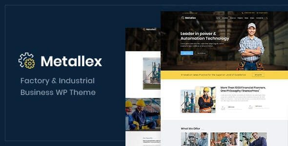 Metallex Industrial And Engineering WordPress Theme v.1.0 Nulled