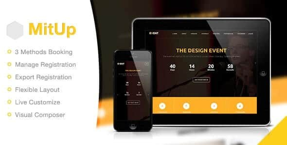 MitUp Event & Conference WordPress Theme