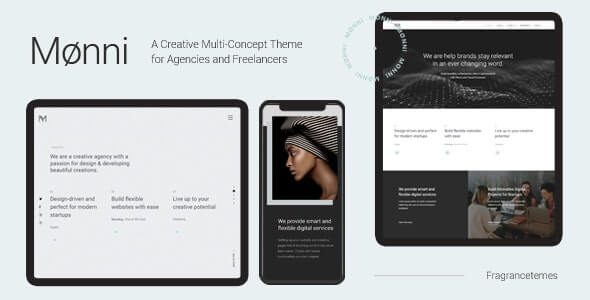 Monni A Creative Multi Concept Theme for Agencies and Freelancers