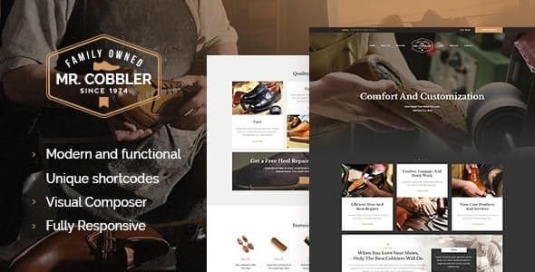 Mr Cobbler Custom Shoemaking & Footwear Repairs WordPress Theme