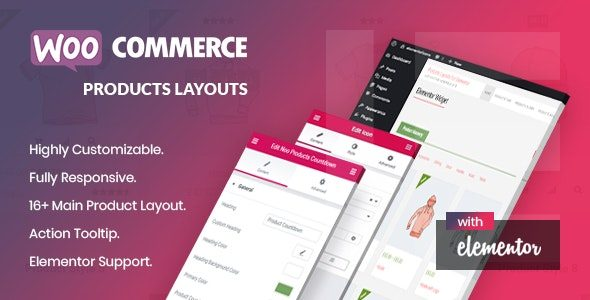 Noo Products Layouts WooCommerce Addon for Elementor Page Builder