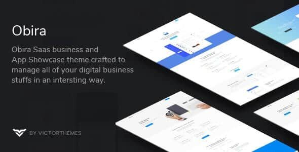 Obira SaaS Business & App Showcase WordPress Theme