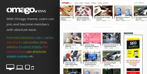 Omago News User Profile Membership & Content Sharing Theme Nulled v.1.9