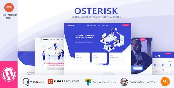 Osterisk VOIP and Cloud Services WordPress Theme