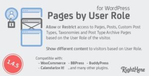 Pages by User Role for WordPress Nulled v.1.5.1.98183