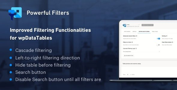 Powerful Filters for wpDataTables Nulled v.1.2.2