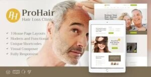 ProHair | Hair Loss Clinic & Cosmetology WordPress Theme Nulled v.1.2.1
