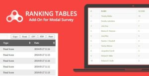 Ranking Tables Modal Survey Add-on Nulled v.1.0.2