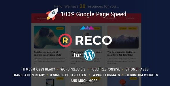 Reco Theme v4.7.1 Nulled