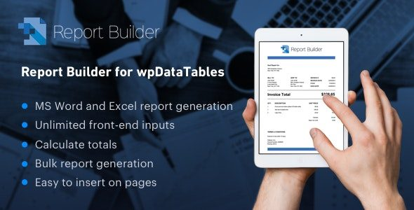 Report Builder add on for wpDataTables Generate Word DOCX and Excel XLSX documents