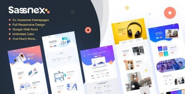 Sassnex Multi concept WordPress Theme for App, Saas & Startup