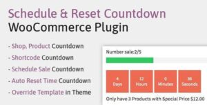 Schedule, Reset Countdown Plugin WooCommerce | WooCP Nulled v.1.0.0