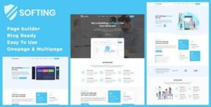 Softing WordPress Software Landing Page Theme Nulled v.1.3.3