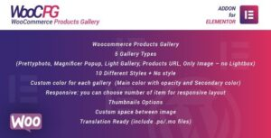 WooCommerce Products Gallery for Elementor Nulled v.1.0