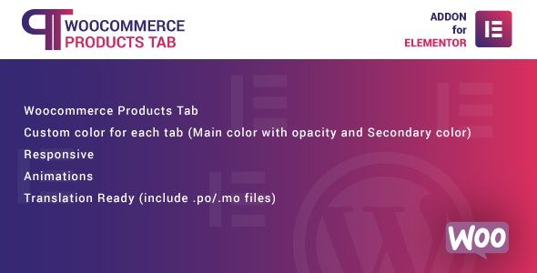 WooCommerce Products Tab for Elementor WordPress Plugin Nulled v.1.0.0