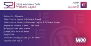 WooCommerce Sale Products Layout for Elementor WordPress Plugin Nulled v.1.0