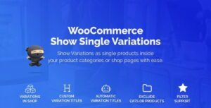 WooCommerce Show Variations as Single Products Nulled v.1.3.6