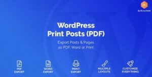 WordPress Print Posts & Pages (PDF) Nulled v.1.5.3