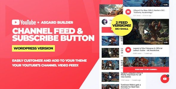 Youtube Channel Feeds and Subscribe Box