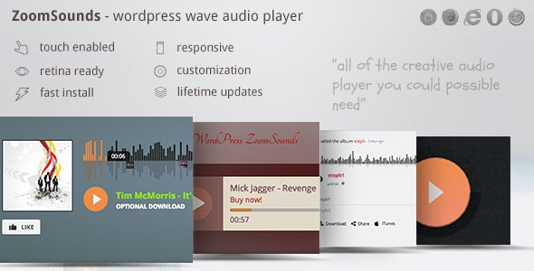 ZoomSounds WordPress Wave Audio Player with Playlist