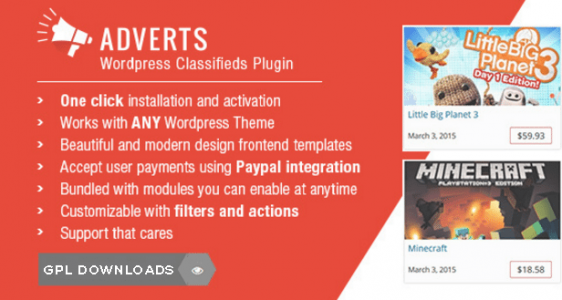 v1.3.1 WPAdverts – Authors Nulled