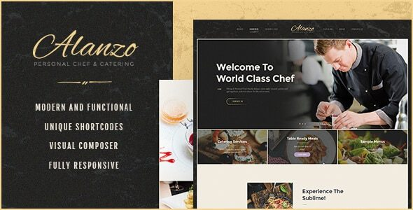 v.1.0.4 Alanzo – Personal Chef & Catering WordPress Theme Nulled