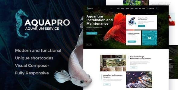 AquaPro Aquarium Installation and Maintanance Services WordPress Theme Store