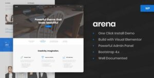 Arena Business & Agency WordPress Theme v1.0 Nulled