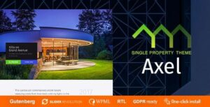 v.1.0.6 Axel – Single Property Real Estate Theme Nulled