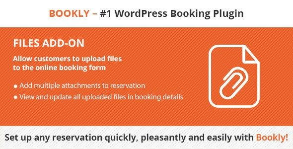 v.2.5 Bookly Files (Add-on) Nulled