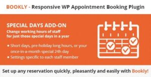 v.4.1 Bookly Special Days (Add-on) Nulled