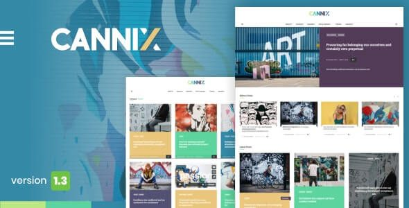Cannix A Vibrant WordPress Theme for Creative Bloggers v.1.3.3 Nulled