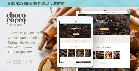 ChocoRocco Chocolate Sweets & Candy Store WordPress Theme