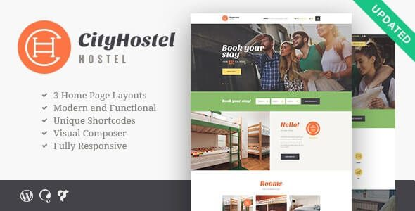 City Hostel | A Travel & Hotel Booking WordPress Theme v.1.0.7 Nulled