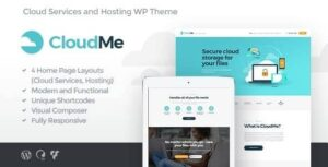 CloudMe   Cloud Storage & File-Sharing Services WordPress Theme v1.1.4 Nulled