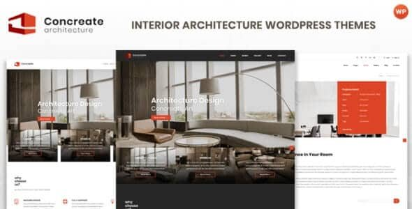 Concreate Interior Architecture Interactive WordPress Theme