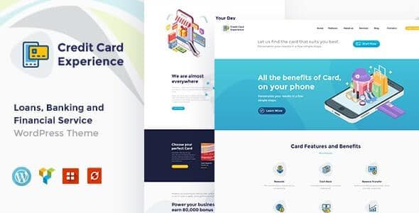 Credit Card Experience v1.2.6 Credit Card Company and Online Banking WordPress Theme Nulled