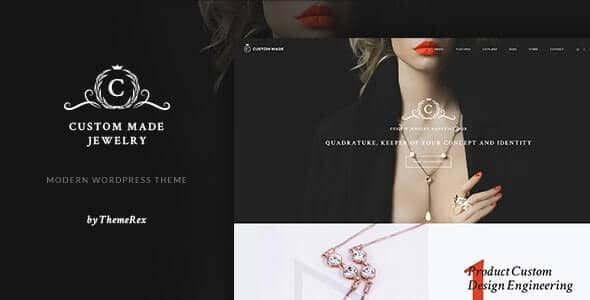 Custom Made | Jewelry Manufacturer and Store WordPress Theme v.1.1.7 Nulled