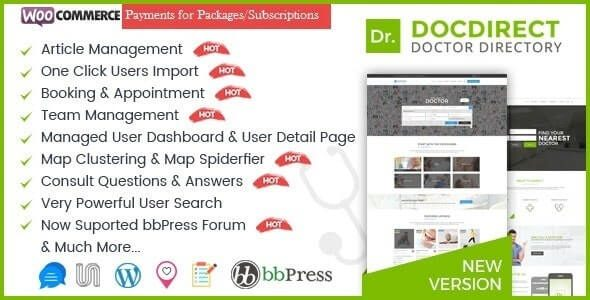 DocDirect WordPress Theme for Doctors and Healthcare Directory