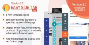 v2.0.7 Easy Side Tab Pro – Responsive Floating Tab Plugin For WordPress Nulled