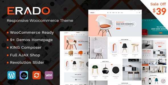 Erado eCommerce WordPress Theme